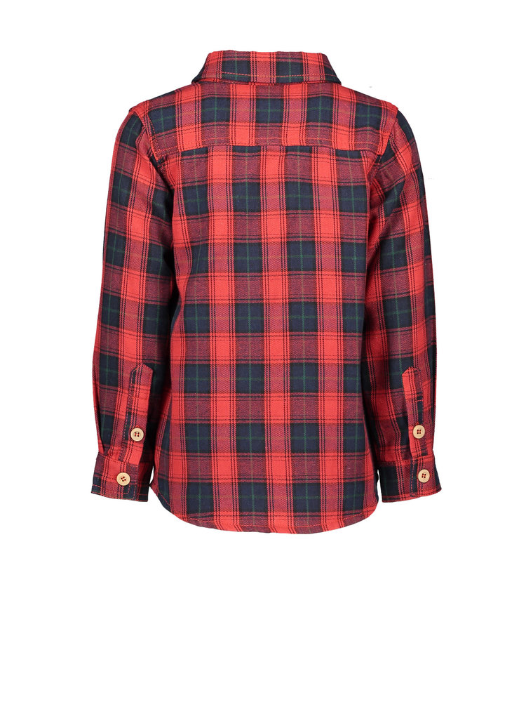 Like Flo Flo boys check blouse - Red
