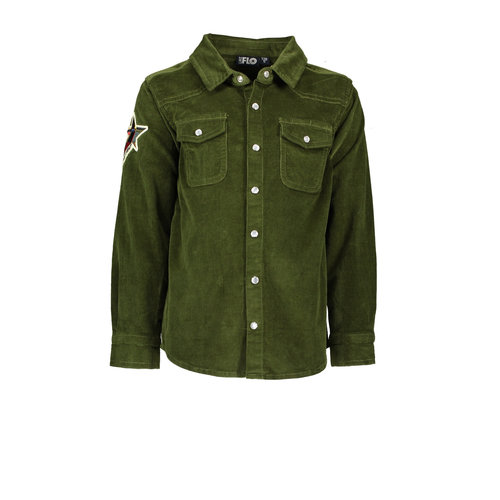 Like Flo Flo boys rib cord blouse - Army