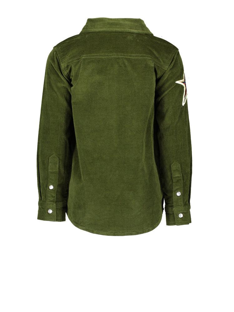 Like Flo Flo boys rib cord blouse - Army