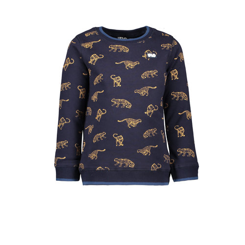 Like Flo Flo boys sweater AO animal - Navy