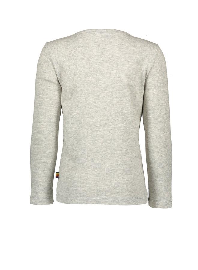 Flo boys jersey long sleeve tee- Grey melee