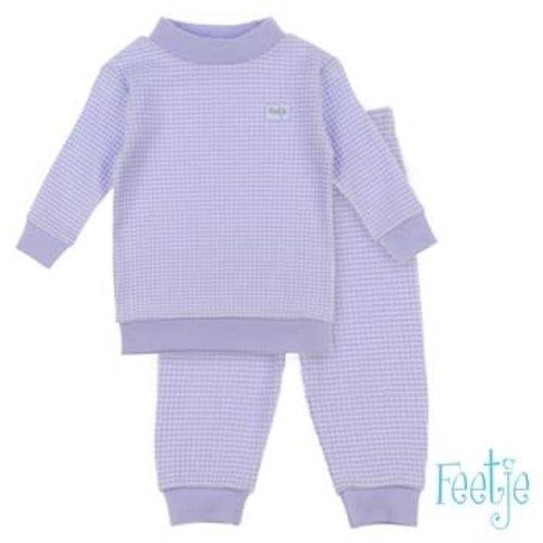 Feetje Pyjama wafel - Lila Autumn Special