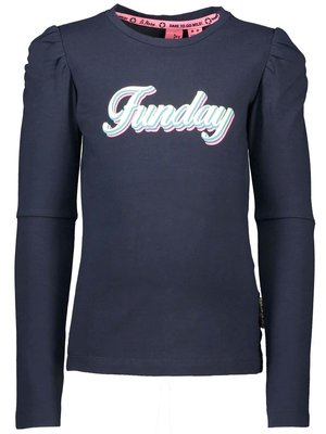 B.Nosy Girls - Longsleeve with puff sleeves - Ink Blue