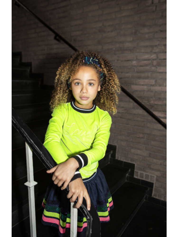 B.Nosy Girls - Velvet sweater - Lime