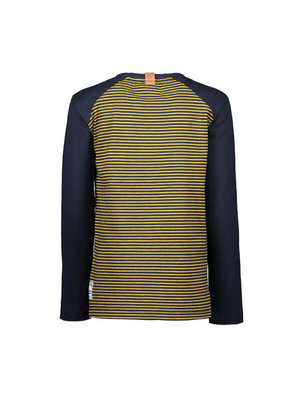 B.Nosy Boys - Longsleeve shirt with bear AO and contrast sleeves - Yellow