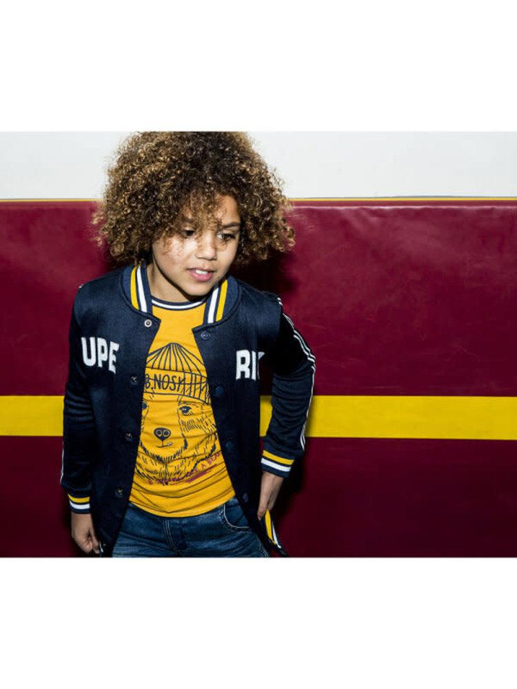 B.Nosy Boys - Shortsleeve shirt with bear print - Yellow