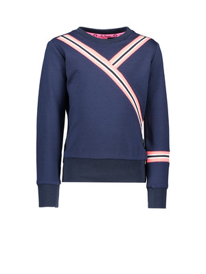 B.Nosy Girls - Sweater with rib on sleeve and body - Ink Blue