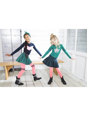 B.Nosy Girls - Skirt with green stripes - Ink Blue