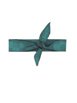 Girls - Check hairband - Emerald