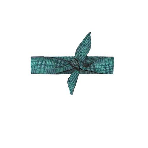 B.Nosy Girls - Check hairband - Emerald