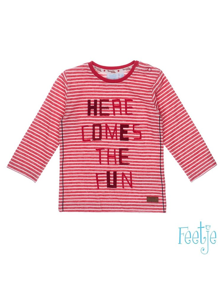 Feetje Longsleeve Streep - Good Fellows - Rood