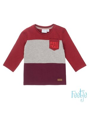 Feetje Longsleeve Vlakken - Good Fellows - Donker Rood