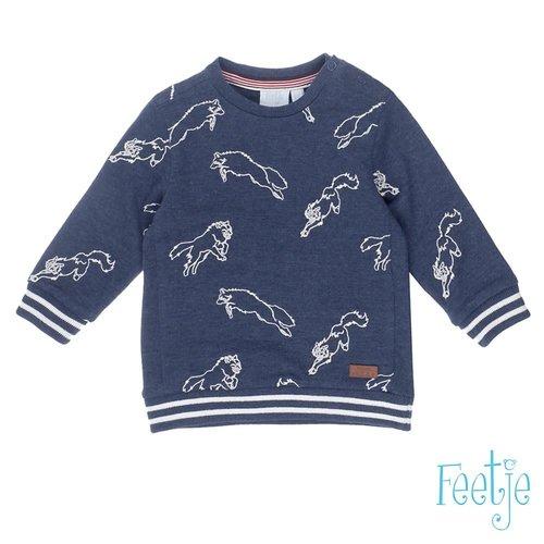 Feetje Sweater AOP - Good Fellows - Marine Melange