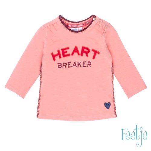 Feetje Longsleeve Heart Breaker - Stars - Roze