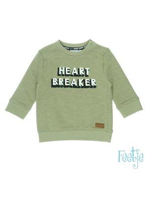 Feetje Sweater Heart Breaker - Tuning Vibes - Army