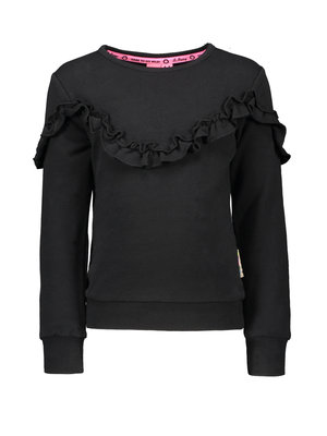 B.Nosy Girl - Sweater with ruffle detail - Black