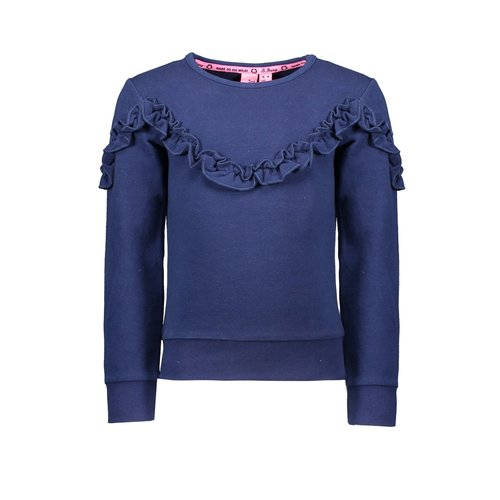B.Nosy Girl - Sweater with ruffle detail - Space Blue