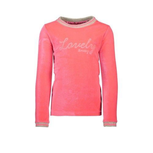 B.Nosy Girls - Velvet sweater - Shocking pink