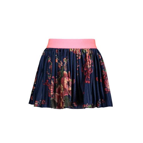 B.Nosy Girls - Printed velours plissé skirt - Sp. blue flower