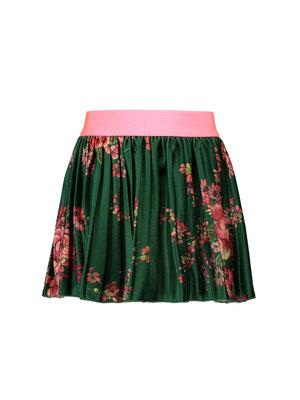 B.Nosy Girls - Printed velours plissé skirt - Flower green