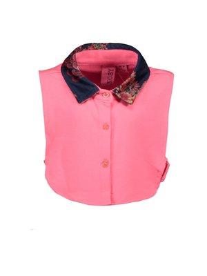 B.Nosy Girls - Collar with printed velours - Shocking pink
