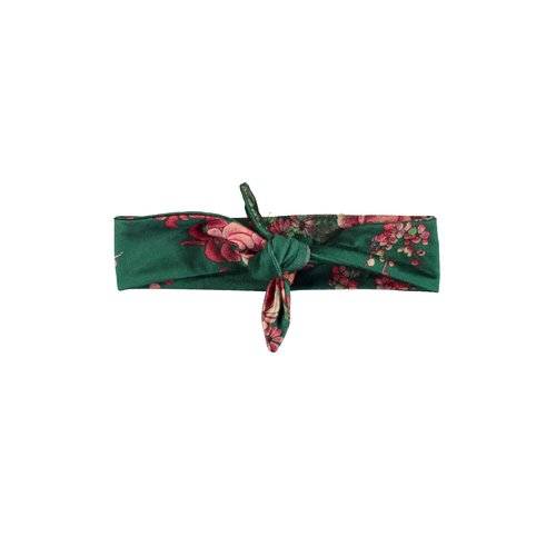 B.Nosy Girls - Printed velours hairband - Flower green