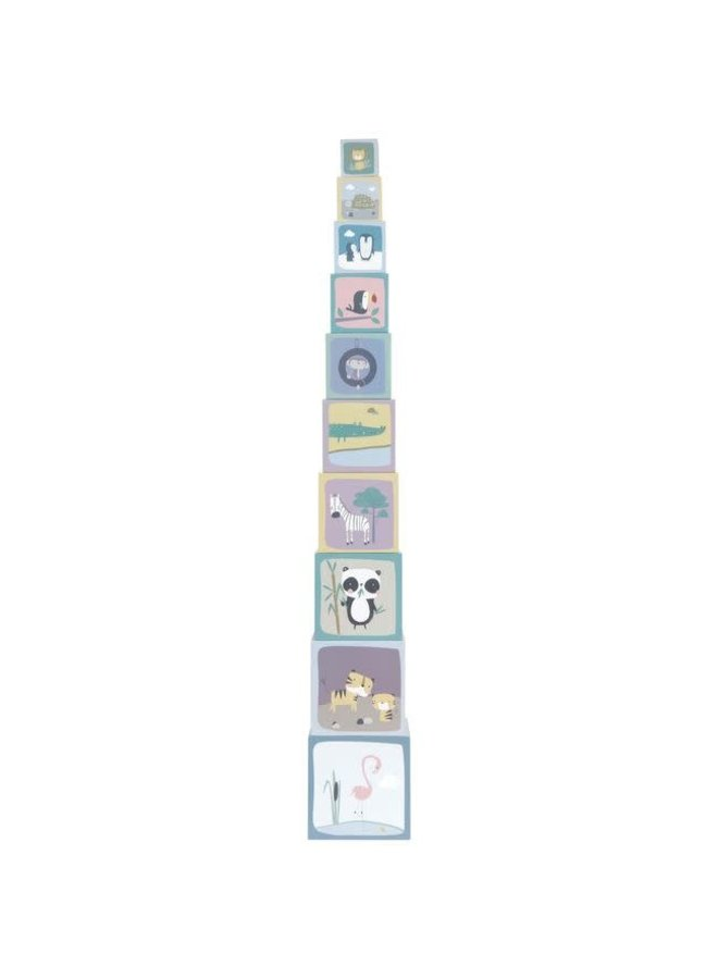 Stapelblokken Dierentuin - Karton