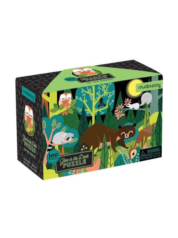Mudpuppy Glow in de dark puzzel - In het bos
