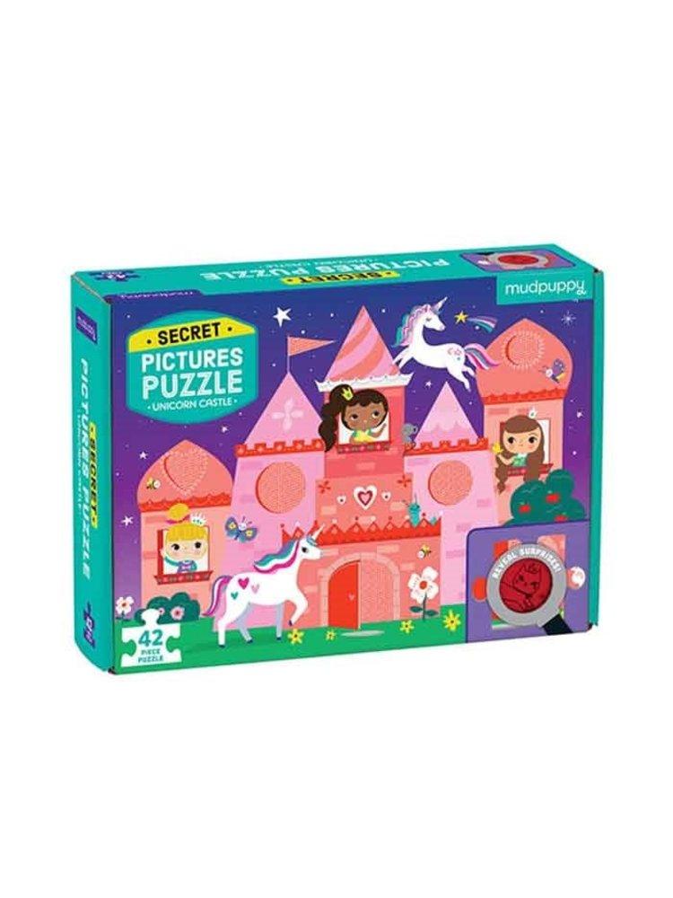 Mudpuppy Geheimen puzzel - Eenhoorn kasteel