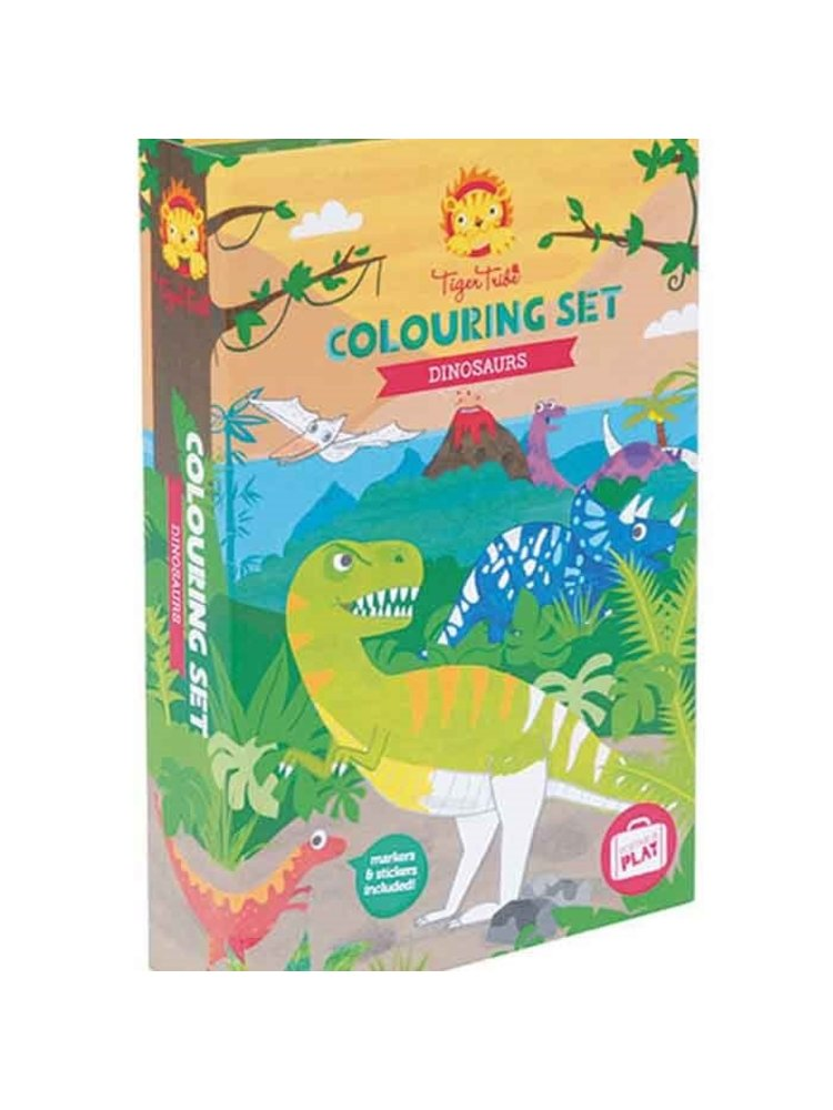 Tiger Tribe Kleur set - Dinosaurus