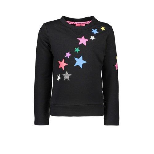 B.Nosy Girls - Sweater with star print - Black