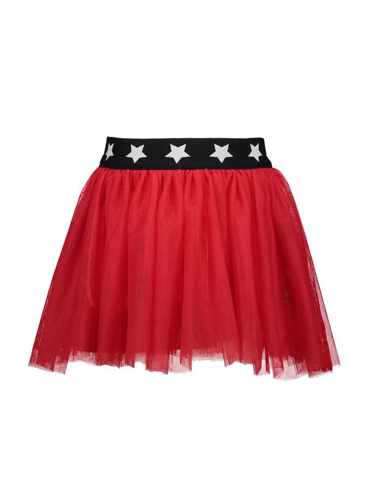 B.Nosy Girls - Netting skirt with star elastic - True Red