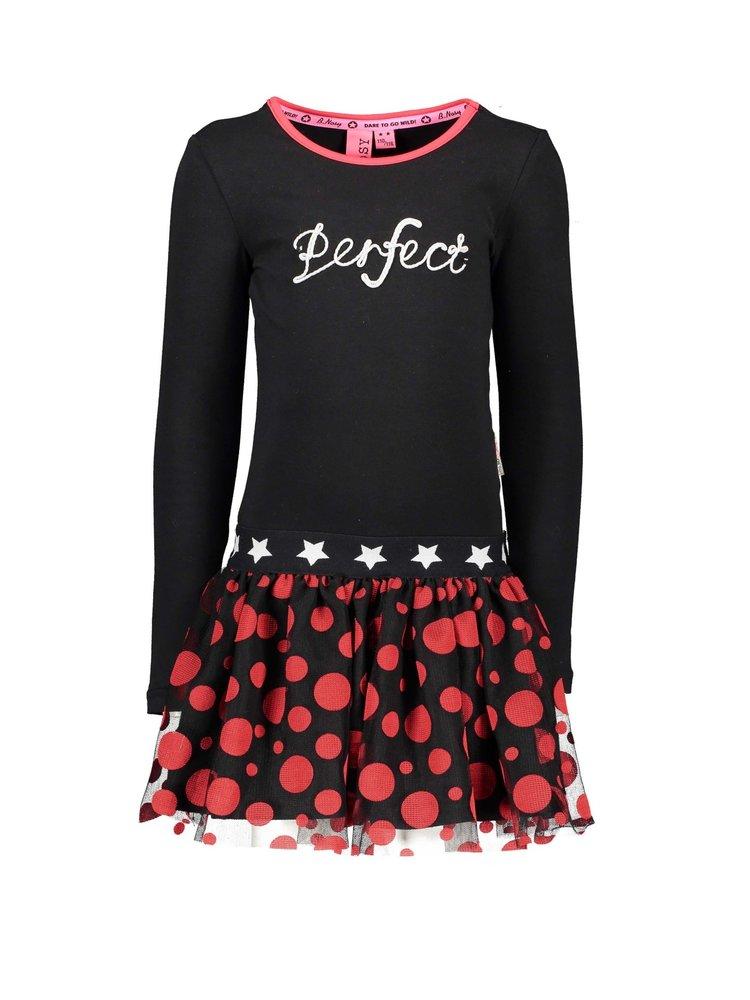 B.Nosy Girls - Dress with netting skirt - Black