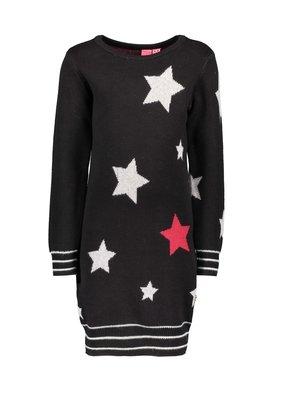 B.Nosy Girls - Knitted star dress - Black