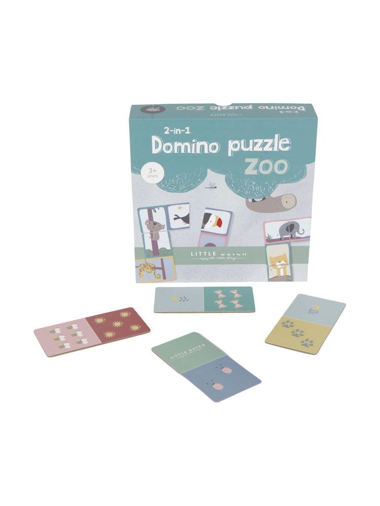 Little Dutch Domino Puzzel - Dierentuin