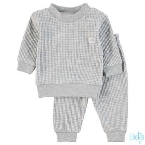 Feetje Pyjama wafel - Grijs melange