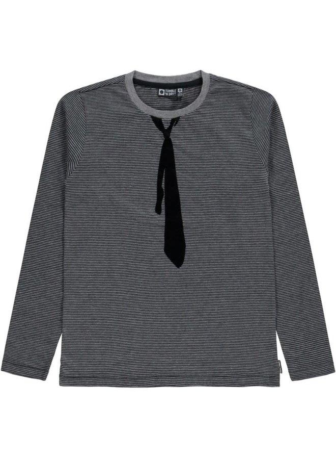 Herbert - Boys - T-shirt ls - Anthracite
