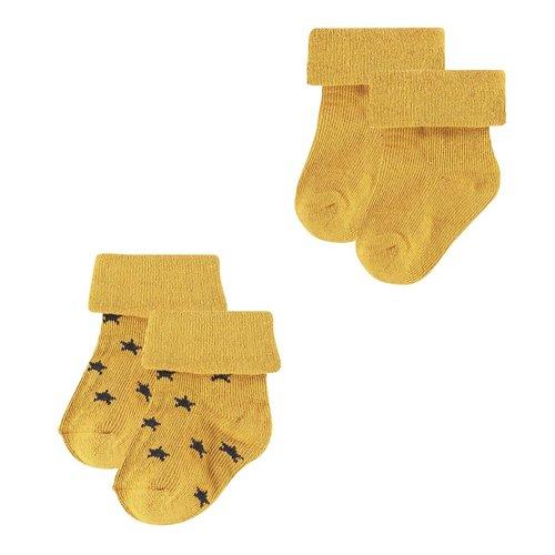 Noppies Sokken (2 paar) Levi - Honey Yellow