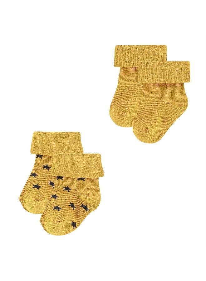 Sokken (2 paar) Levi - Honey Yellow
