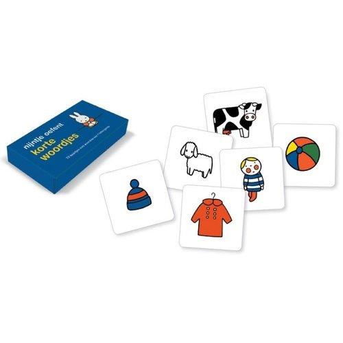 Querido Nijntje oefent korte woordjes (70 kartonnen kaartjes)