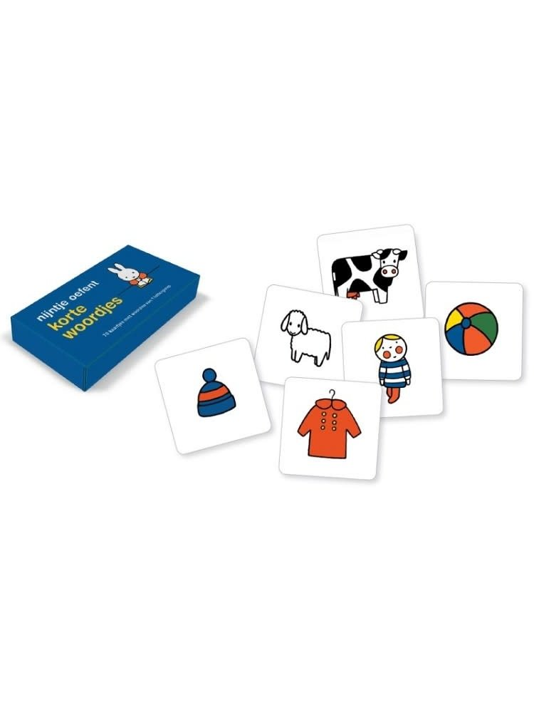 Nijntje oefent korte woordjes (70 kartonnen kaartjes)