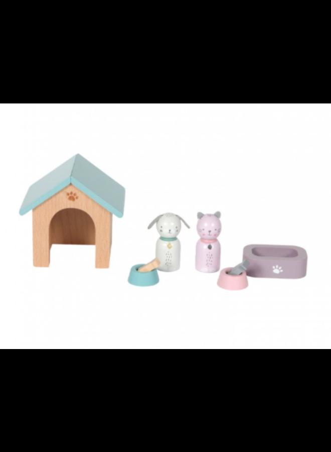 Poppenhuis Speelset - Huisdieren 8-delig
