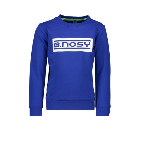 B.Nosy Boys fluo crew neck sweater with logo artwork on chest