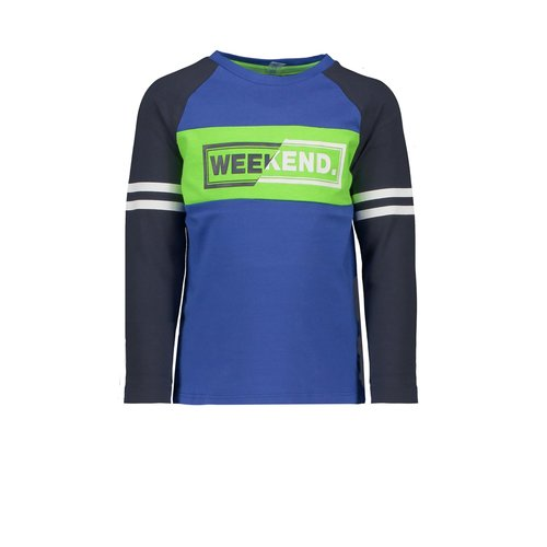 B.Nosy Boys raglan shirt with contrast sleeves, uni front panel and YDS back panel