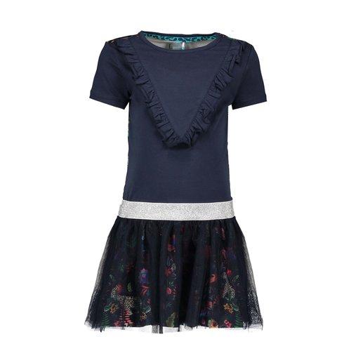 B.Nosy Girls dress with V ruffle and 2 layer netting skirt