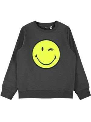 Name It Happy Tiks Ls - Sweat - Asphalt