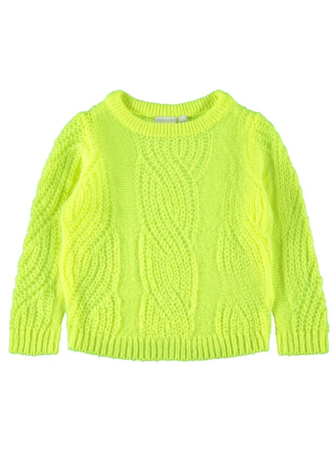 Tulle Ls - Knit - Safety Yellow
