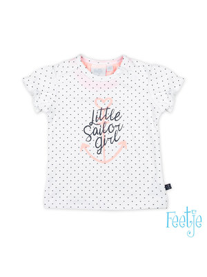 Feetje T-shirt hartjes - Sailor Girl