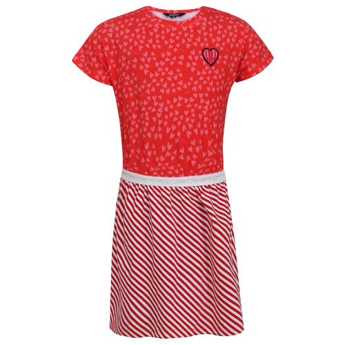 Little Miss Juliette Dress Heart - Red
