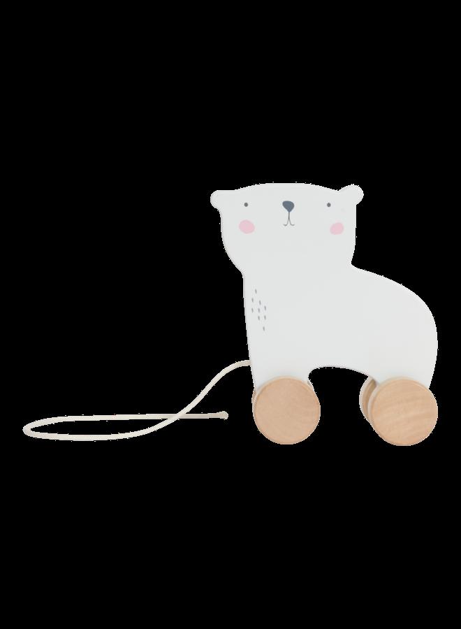 Houten trekdier - ijsbeer
